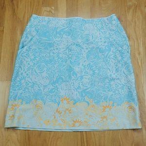 Floral Nike Dri-Fit Athletic Walking Golf Skirt